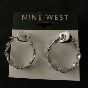New Nine West hoop earrings